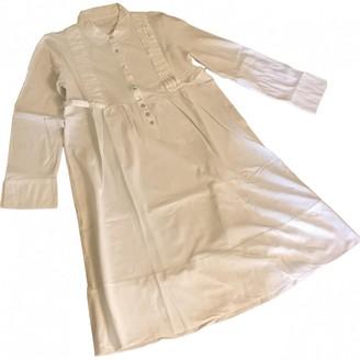 Alpha Industries White Cotton Dresses