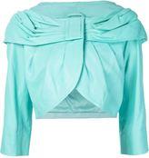 Moschino draped collar jacket - women - Sheep Skin/Shearling/Polyester - 44