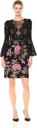 Tadashi Shoji Women's Floral Lace Bell Sleeve Dress