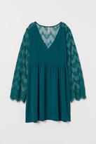 H&M Short Lace Dress - Green