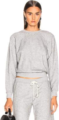 RE/DONE 50's Crewneck Sweatshirt in Heather Grey | FWRD