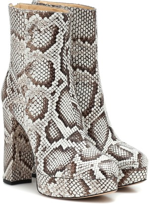 Alexandre Birman Rachel python-leather ankle boots