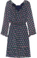 Diane von Furstenberg Simonia Printed Silk-chiffon Dress - Navy