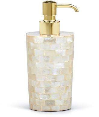 Labrazel White Agate Soap Dispenser w/ Unplated Brass Pump