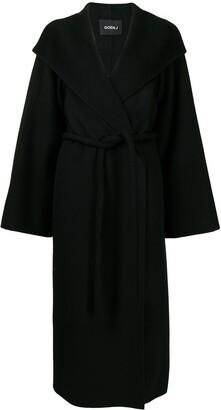 GOEN.J Tie-Waist Wool-Blend Double-Faced Coat