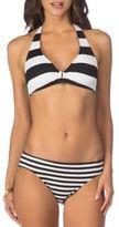 Lauren Ralph Lauren Halter Straps Striped Bikini Top