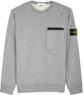 Stone Island Grey Cotton Sweatshirt