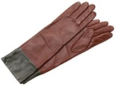 Echo Design - Leather Colorblock Long Glove (Coffee) - Accessories