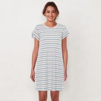 Lauren Conrad Women's Knot-Sleeve Swing Dress