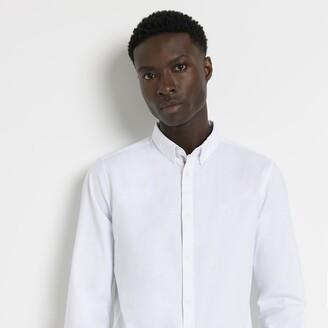 River Island Mens Maison Riviera White slim fit Oxford shirt
