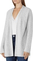 Reiss Marley Ribbed Open Cardigan