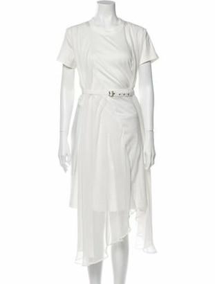 Noir Kei Ninomiya Crew Neck Knee-Length Dress noir
