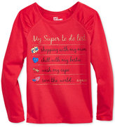 Epic Threads Hero Kids by Mix and Match Text-Graphic Long-Sleeve T-Shirt, Toddler Girls (2T-5T), Created for Macy's