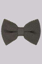 Moss Bros Khaki Knitted Bow Tie