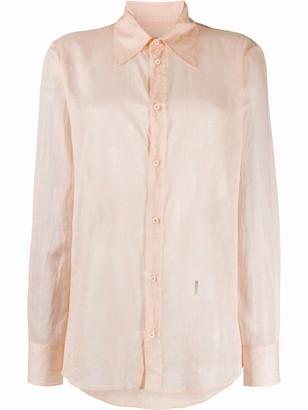 DSQUARED2 Wrinkled-Effect Shirt
