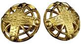 Chanel Logo Gold-Tone Clip-On Earrings