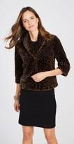 J.Mclaughlin Roxanne Faux Fur Jacket in Leopard