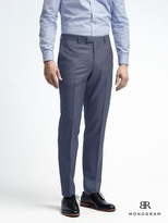 Banana Republic Slim Monogram Bright Blue Wool Suit Trouser