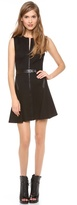 Robert Rodriguez Folded Double Face Dress