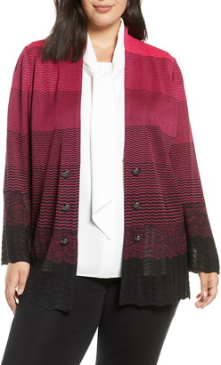 Ming Wang Ombre Knit Jacket