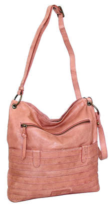 Nino Bossi Handbags Women's Handbags Dusty - Dusty Rose Nieve Leather Crossbody Bag