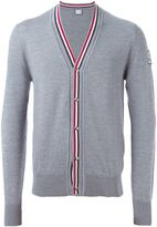 Moncler Gamme Bleu v-neck piped cardigan - men - Virgin Wool - M