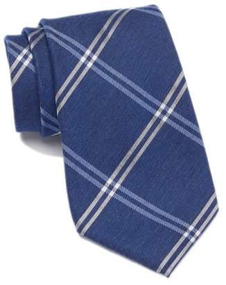 Calvin Klein Dark Wash Denim Plaid Tie