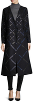 Jil Sander Wool Appliqu&eacute Flared Dress