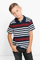 Boohoo Boys Striped Polo T Shirt