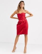 Closet London Closet bandeau strapless mini dress