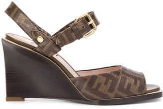 Fendi FF motif wedge sandals