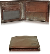 The Bridge Story Uomo Dark Brown Billfold Wallet w/Coin Pocket