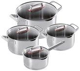 "Kuhn Rikon Modern"" Cooking Pot Set, Stainless Steel, Silver, 1.5/2/3/5 Litre"