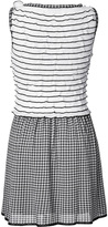 Moschino Tiered Bodice Knit Dress in Black/White