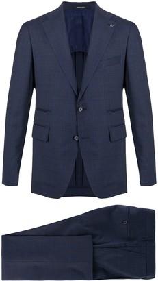 Tagliatore Check Print Two-Piece Suit