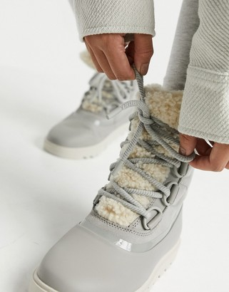 Sorel Joan Of Arctic Next lace up boots in dove