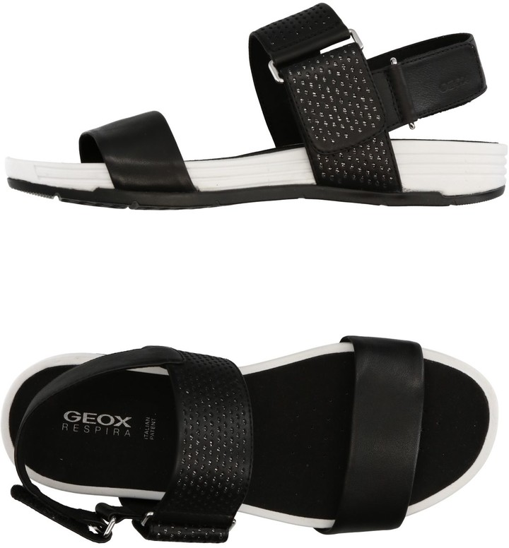 Rubber Geox Black Sole Australia Women Sandals Shopstyle For DYWH2E9beI