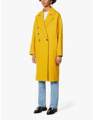 Pinko Double-breasted wool-blend coat