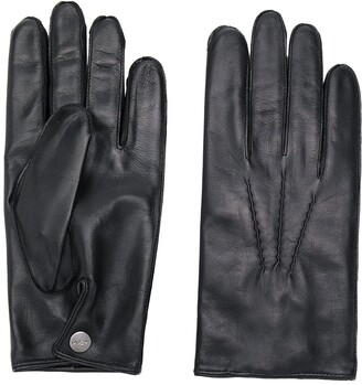 N.Peal 007 leather & cashmere lined gloves