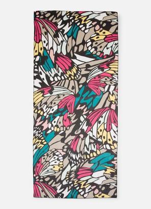 St. John Monarch Butterfly Print Silk Georgette Wrap
