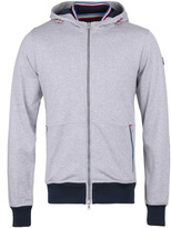Paul & Shark Grey Marl Zip Through Hooded Sweatshirt