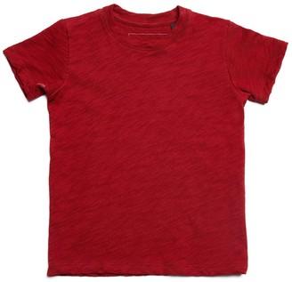 Atm Kids Slub Jersey Short Sleeve Tee - Red