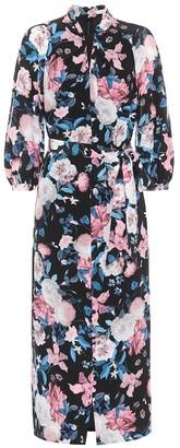 Erdem Finnetta floral silk midi dress