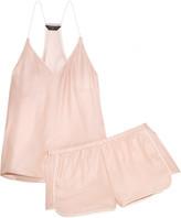 Three J NYC Sienna Printed Silk-satin Pajama Set - Blush