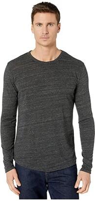 Alternative Long Sleeve Eco Shirttail Tee (Eco Black) Men's Clothing