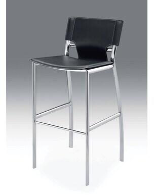 "Creative Images International 26"" Leather Barstool with Chrome Legs Creative Images International"