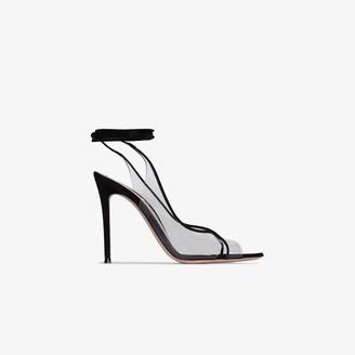 Gianvito Rossi black Denise 115 leather sandals