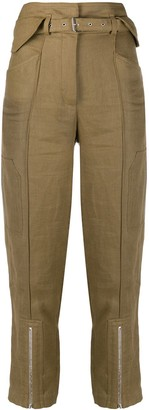 IRO Cropped High-Waist Trousers