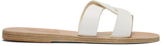Ancient Greek Sandals White Desmos Sandals