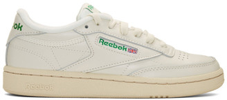 Off-White Reebok Classics and Green Club C 85 Vintage Sneakers